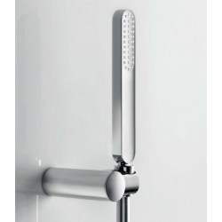 Kit teléfono de ducha antical DREAM con soporte orientable y flexo silver. Grober