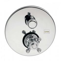 Mezclador termostático de ducha CLASICA 1866 cromado (empotrar), sin equipo. Grober