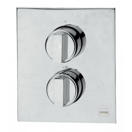 Mezclador termostático de ducha KALA ( empotrar ) cromado, con 2 salidas . Grober
