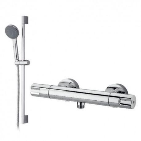 Mezclador termostático de ducha TENDER cromado, con barra deslizante . Grober