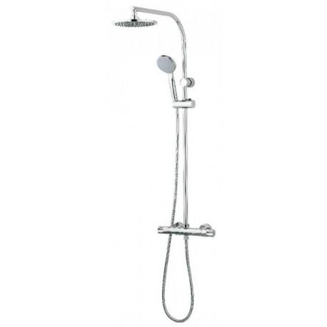 Mezclador termostático de ducha TENDER cromado, con columna fija . Grober
