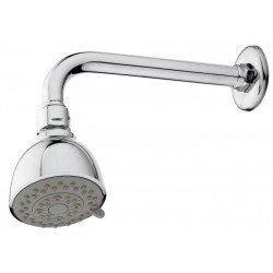 Rociador de ducha EASY de 65 mm con brazo recto de 200mm cromado. Grober