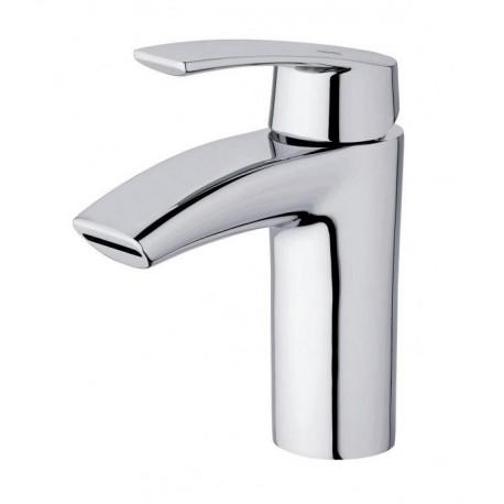 Monomando de lavabo PREMIER cromado con caño de cascada . Grober
