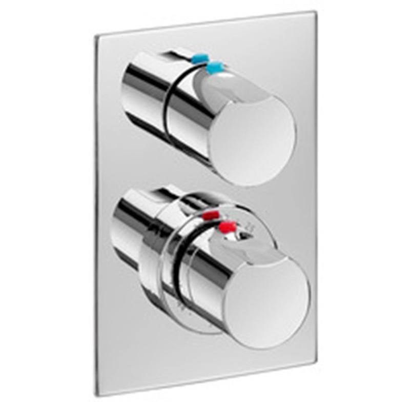 Baños Con Ducha Telefono:Mezclador termostático baño ducha empotrable con ducha, teléfono y