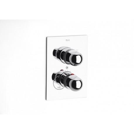Mezclador termostático de baño ducha empotrable de 1/2 - 1/2 PANAMA-T cromado . Roca