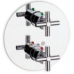 Mezclador termostático de baño ducha empotrable LOFT-T cromado . Roca