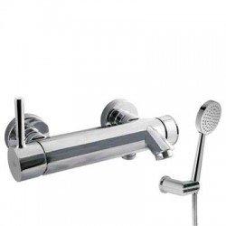 Monomando de baño ducha ALPLUS cromado Ref: 20317001. Tres
