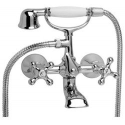 Grupo de baño ducha con equipo época CLASIC-TRES CERAMIC cromado REF 132176 . Tres
