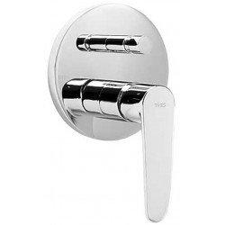 Monomando de baño empotrado FLAT-TRES cromado Ref: 20418001. Tres