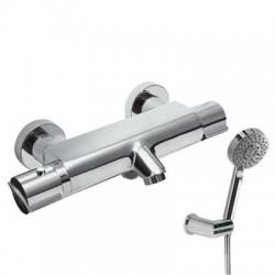 Monomando termostático de baño ducha con equipo LEX-TRES Ref: 1811749 cromado . Tres