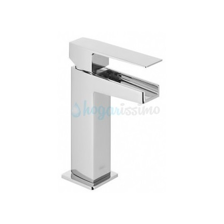 Monomando de lavabo SLIM-TRES cascada libre con palanca Ref: 20211001 cromado. Tres