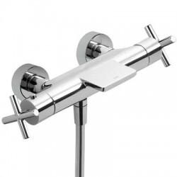 Mezclador termostático de ducha con equipo BIMAX-TRES cromado . Tres