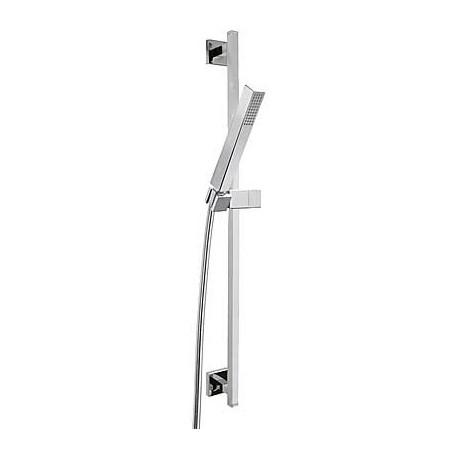 Kit de ducha CUADRO-TRES barra deslizante de 842 mm ducha teléfono y flexible . Tres