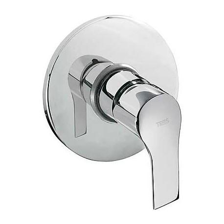 Monomando empotrado de ducha K-TRES cromado. Tres