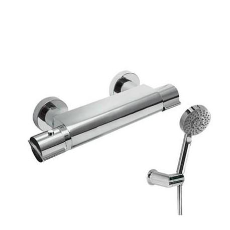 Mezclador termostático de ducha con equipo LEX-TRES cromado . Tres