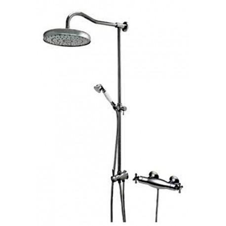 Conjunto ducha MONOCLASIC 1900 termostática ducha fija de 260 mm ducha móvil cromo . Tres