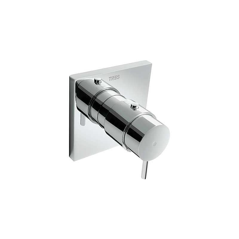 Mezclador de ducha tres mostatic compact empotrado cr tres for Mezclador ducha