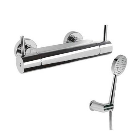Mezclador ducha TRESMOSTATIC con equipo de ducha cromado. Tres