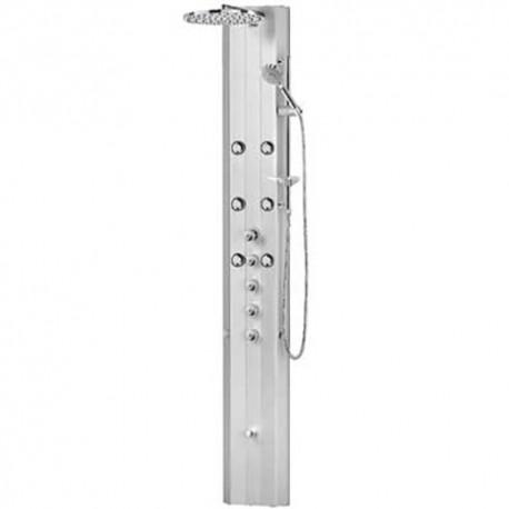 Columna de ducha termostática AVAN-TRES anodizado frontal ó esquina. Tres