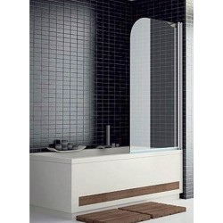 Mampara frontal de bañera serie 300 TR570 con una puerta abatible reversible cristal transparente. Kassandra