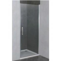 Mampara frontal de ducha OPEN COMBI B de una puerta de 70 con cierre de perfil con imán . GME