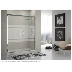 Mampara frontal de ducha serie 300 Ref: TR100 de 168 - 174 cristal serigrafía BALI . Kassandra