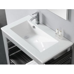 Lavabo rectangular TECNO-80 . Bathco