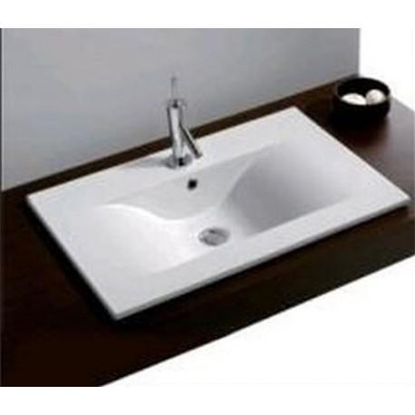 lavabo de sobre encimera para encastrar modelo denia unisan