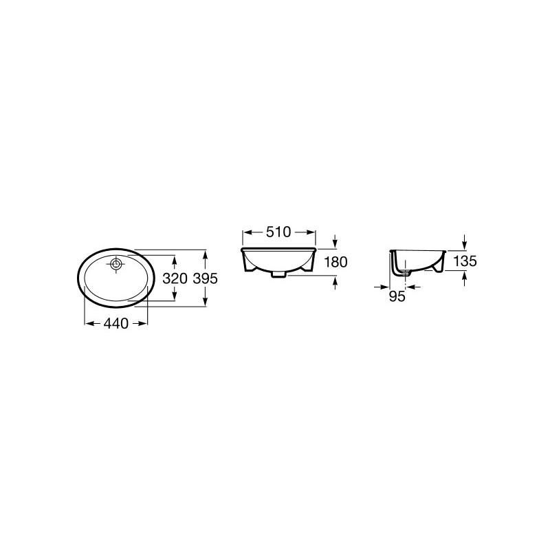 Lavabos Ovalados Para Baño:Inicio > BAÑOS > Lavabo ovalado bajo encimera NEO SELENE  Roca