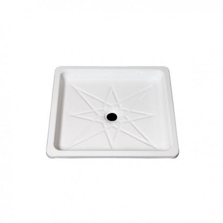 Plato de ducha de plancha esmaltada 60 blanco . Practic