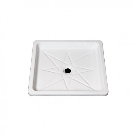 Plato de ducha de plancha esmaltada 70 blanco . Practic