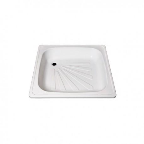 Plato de ducha de plancha esmaltada 90 hondo blanco . Practic