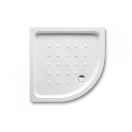 Plato de ducha de porcelana modelo EASY angular de 80 x 80 blanco . Roca