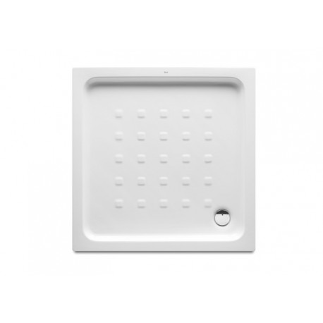 Plato de ducha de porcelana modelo EASY de 70 x 70 blanco . Roca
