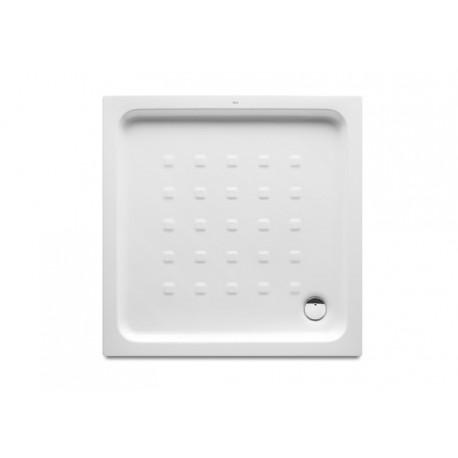 Plato de ducha de porcelana modelo EASY de 80 x 80 blanco . Roca
