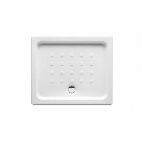 Plato de ducha de porcelana modelo EASY de 90 x 75 blanco . Roca