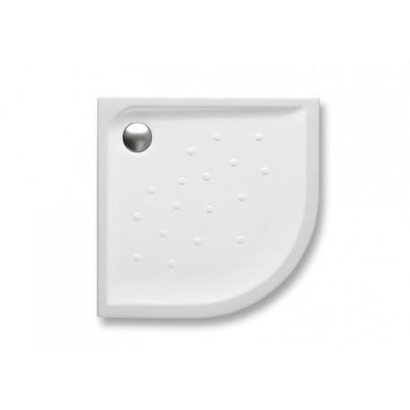 Plato de ducha de porcelana modelo MALTA de 100 angular extraplano y altura 4,5 blanco . Roca