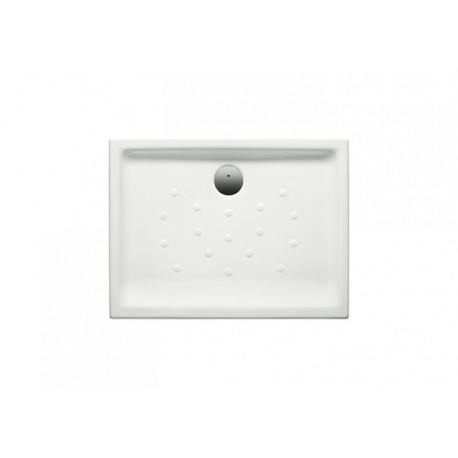 Plato de ducha de porcelana modelo MALTA de 100 x 75 extraplano de altura 6.5 blanco . Roca