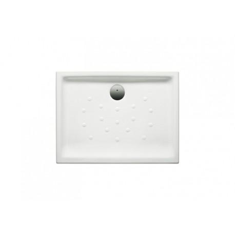 Plato de ducha de porcelana modelo MALTA de 120 x 75 extraplano de altura 6,5 blanco . Roca