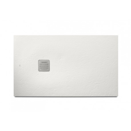 Plato de ducha de STONEX TERRAN de 1400 x 800 x 310 mm blanco . Roca