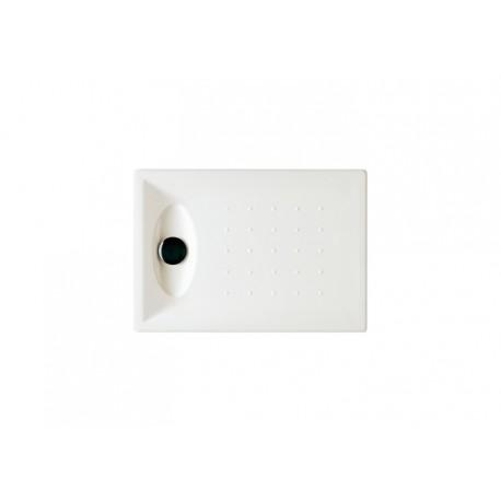 Plato de ducha acrílico modelo OPENING de 100 x 80 blanco . Roca