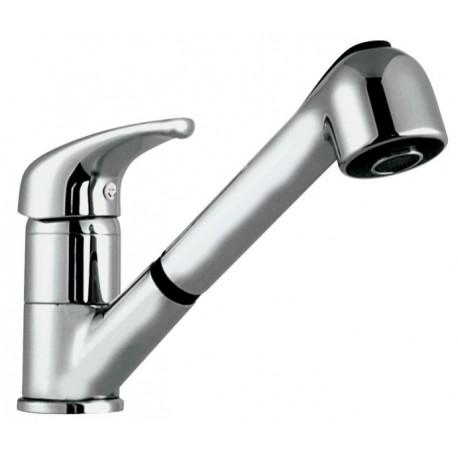 Monomando vertical con ducha extraíble JUNIOR cromado . Grober