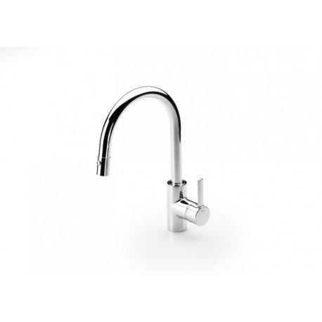 Mezclador para cocina con caño extraíble giratorio y función ducha para aclarado TARGA cromado . Roca