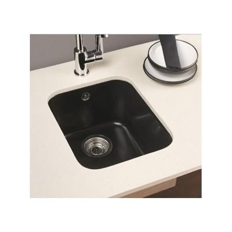 Fregadero bajo encimera NIX de 1 seno ( cubeta ) de 375 x 450 mm color granito blanco . Aquasilk