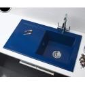 Fregadero sobre encimera ATON de 1 seno y escurridera de 885 x 510 mm color blanco . Aquasilk