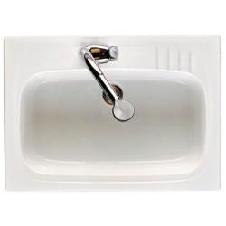 Fregadero de gres modelo LUGANO gres de 1 seno de 60 x 50 blanco . Roca