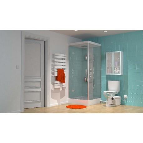 Triturador SANIPRO adaptable al WC de salida horizontal . Sanitrit