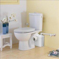 Triturador SANITRIT adaptable al WC de salida horizontal . Sanitrit