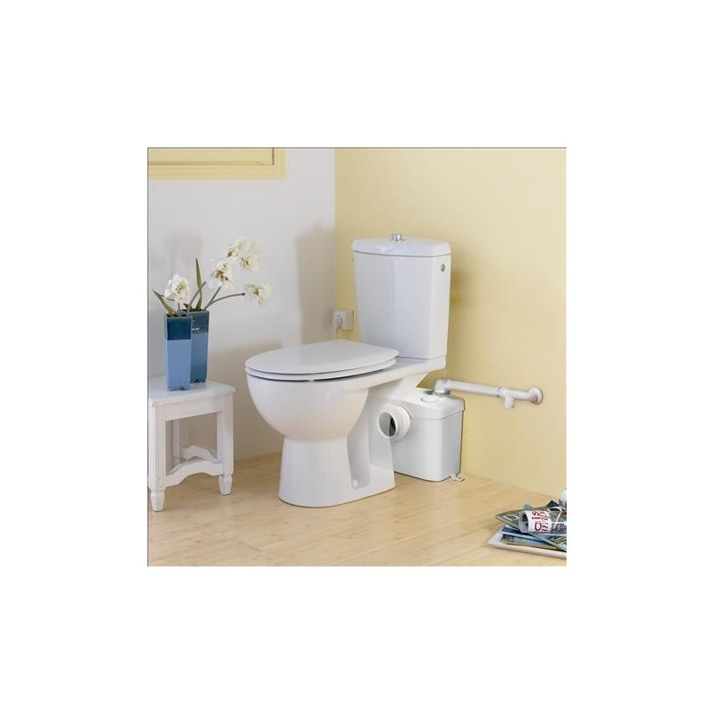 Triturador sanitrit adaptable al wc de salida horizontal for Instalar wc salida horizontal