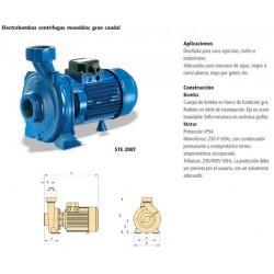 Electrobomba centrífuga monobloc de gran caudal tipo STE 150T de 1,5 CV y 1,1 KW . Bloch